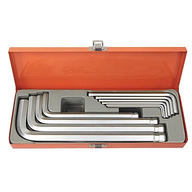 Stahl Schild metrische Verlängerung Kugelkopf sechs Eckschlüssel Krawatte er 10 Sätze von / 1 Sets