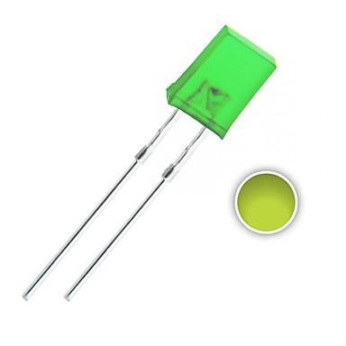 100 kpl 2x5x7 mm keltainen-vihreä valodiodi syttyy