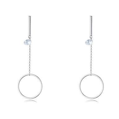 Damen Tropfen-Ohrringe Kubikzirkonia Euramerican Modisch Simple Style Kupfer Kreisform Schmuck Party Modeschmuck
