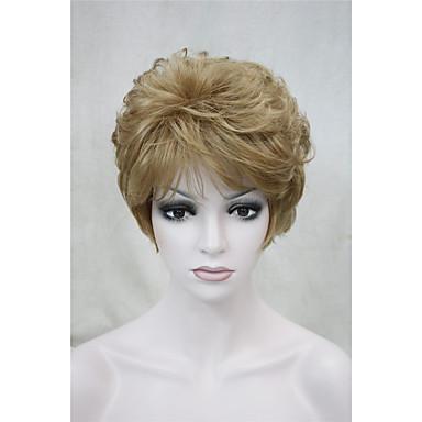 Damen Synthetische Perücken Kurz Locken Blond Natürliche Perücke Kostümperücke