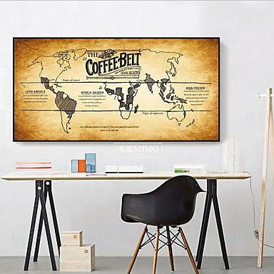 Landkarten Wand-Dekor Leinen Retro Wandkunst, Wandbehänge Dekoration
