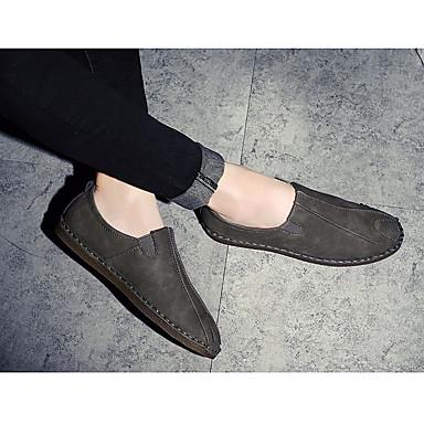 Miehet Oxford-kengät Comfort Kevät Aitoa nahkaa Kausaliteetti Harmaa Ruskea Tasapohja