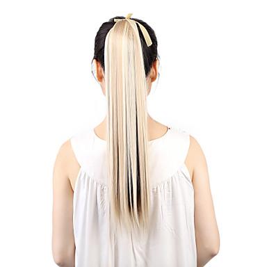 Rabos-de-Cavalo Pedaço de cabelo Alongamento Liso