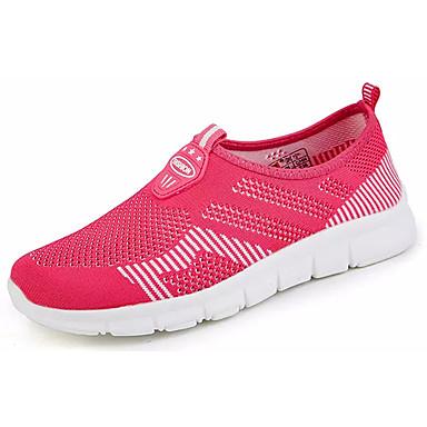 Homens sapatos Tule Verão Conforto Tênis Caminhada para Atlético Ao ar livre Preto Azul Escuro Fúcsia Rosa claro Preto/Vermelho