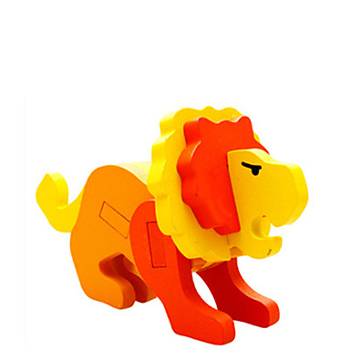 voordelige 3D-puzzels-3D-puzzels Houten modellen Leeuw Plezier Hout Klassiek Kinderen Unisex Speeltjes Geschenk