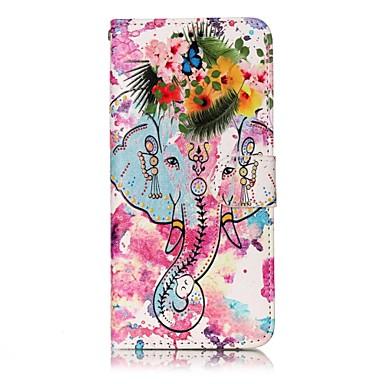 Capinha Para Samsung Galaxy S8 Plus S8 Porta-Cartão Carteira Com Suporte Flip Magnética Estampada Capa Proteção Completa Elefante Rígida