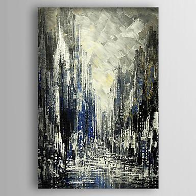 Pintados à mão Abstrato Vertical, Abstracto Tela de pintura Pintura a Óleo Decoração para casa 1 Painel