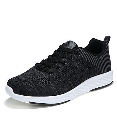 Homens sapatos Couro Ecológico Primavera Outono Conforto Tênis Caminhada Cadarço para Casual Preto Azul Marinho Cinzento Claro