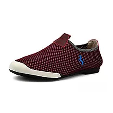Homens sapatos Tule Verão Conforto Mocassins e Slip-Ons Caminhada Pregueado para Casual Cinzento Azul Marinho Vinho