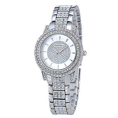 baratos Relógios Senhora-Mulheres Relógios Luxuosos Relógio Pavé Relógio de diamante Quartzo Banhado a Ouro 18K Prata / Dourada / Ouro Rose Relógio Casual Analógico senhoras Luxo Fashion - Dourado Prata Ouro Rose