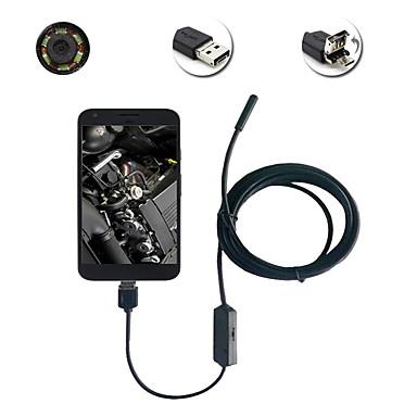 2in1 android&Pc 0.3 mega pixel 5.5mm lente hd endoscópio 6 led ip67 inspeção impermeável borescope 1m fio rígido longo