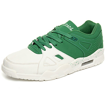 Homens sapatos Couro Ecológico Primavera Outono Conforto Tênis para Casual Preto Vermelho Verde