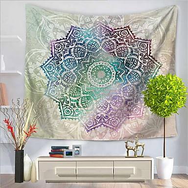Blumen / Abstrakt Wand-Dekor 100% Polyester Künstlerisch / Muster Wandkunst, Wandteppiche Dekoration