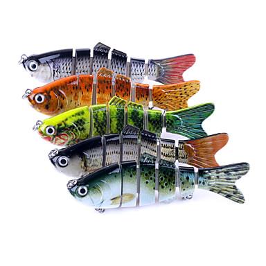 5 pçs Acessórios de pesca Pique Vairão Jerkbaits Plástico Fácil Uso Pesca de Mar Rotação Pesca de Gancho Pesca de Água Doce Pesca de Isco