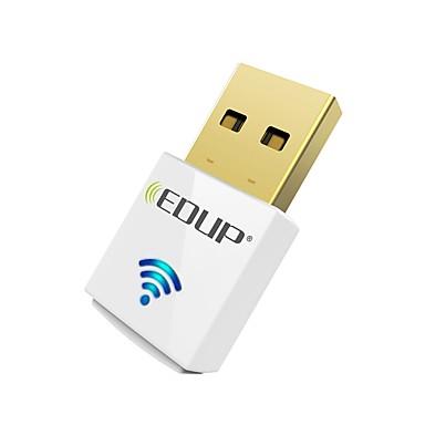 Edup usb wirelss wifi adaptador 600mbps dual band 11ac mini cartão de rede sem fio dongle ep-ac1619