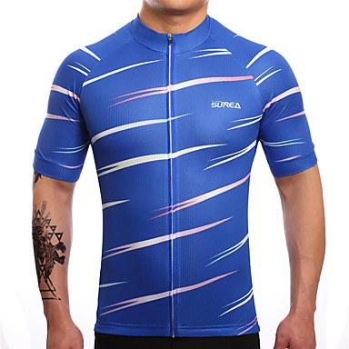 SUREA Fahrradtrikot Herrn Kurzarm Fahhrad Trikot/Radtrikot Oberteile Fahrradbekleidung Rasche Trocknung Atmungsaktiv Schweißableitend