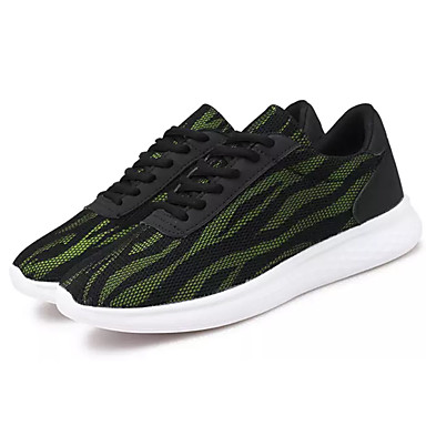 Homens sapatos Borracha Primavera Outono Conforto Tênis Cadarço para Ao ar livre Verde/Preto Verde e Azul