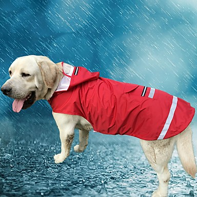 Cat Dog Hoodie Rain Coat Dog Clothes Solid Colored Red Blue Oxford cloth Terylene Costume For Pets Men's Women's Casual/Daily Waterproof