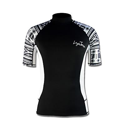LAYATONE Homens 2mm Camisa de Mergulho Esportes Tactel Fato de Mergulho Manga Curta Blusas - Mergulho Primavera/Outono Estampado