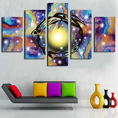 Reprodukce umění Abstraktní Moderní,Pět panelů Horizontální Grafika Wall Decor For Home dekorace