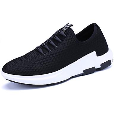 Homens sapatos Borracha Primavera/Outono Conforto Tênis Cadarço para Ao ar livre Preto