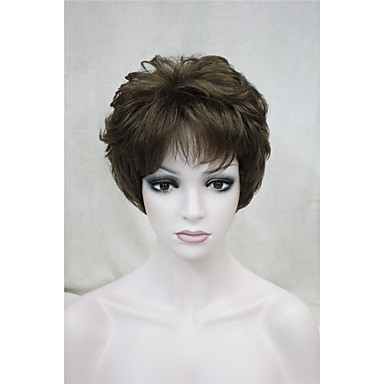 Synthetische Haare Perücken Locken Kappenlos Karnevalsperücke Halloween Perücke Natürliche Perücke Kurz