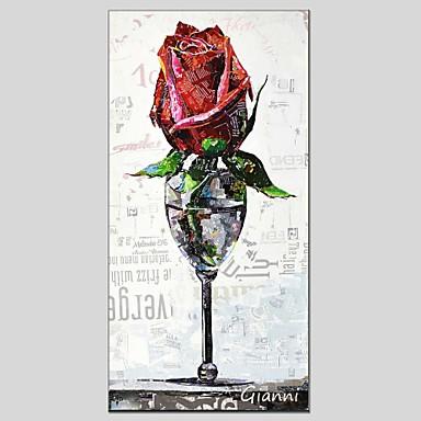Handgemalte Blumenmuster/Botanisch Segeltuch Hang-Ölgemälde Haus Dekoration Ein Panel