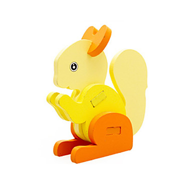 voordelige 3D-puzzels-3D-puzzels Houten modellen Eekhoorn Plezier Hout Klassiek Kinderen Unisex Speeltjes Geschenk
