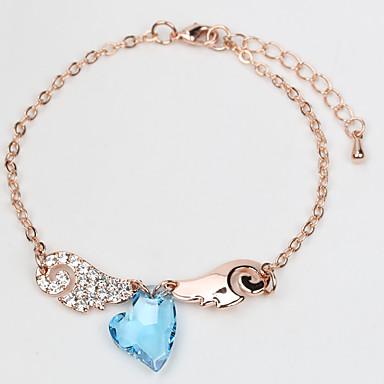 Dámské Řetězové & Ploché Náramky Šperky Vintage příroda Módní Ručně Vyrobeno Křišťál Slitina Round Shape Šperky Pro Svatební Párty