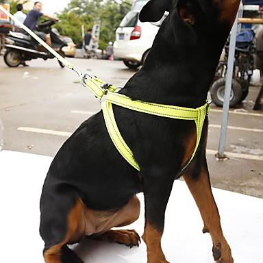 Gato Cachorro Arreios Trelas Reflector Portátil Respirável Segurança Ajustável Sólido Náilon Laranja Amarelo Rosa Verde