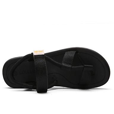 Naiset Kengät Nahka Kevät Comfort Sandaalit Käyttötarkoitus Kausaliteetti Musta Harmaa Ruskea