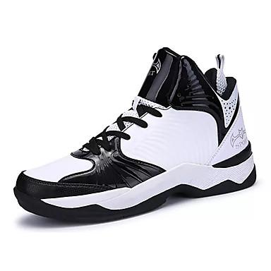Homens sapatos Couro Ecológico Primavera / Outono Conforto Tênis Basquete Branco / Preto / Preto / Vermelho / Black / azul