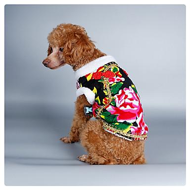 Koira Asut Takit College Joulu Koiran vaatteet Uusivuosi Luonto Musta Punainen Vihreä Sininen Asu Lemmikit