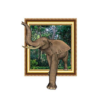 Zvířata 3D Samolepky na zeď 3D samolepky na zeď Světelné samolepky na zeď Ozdobné samolepky na zeď,Vinyl Materiál Home dekorace Lepicí