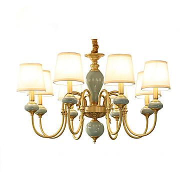 Landhaus Stil Traditionell-Klassisch Ministil LED Kronleuchter Deckenfluter Für Wohnzimmer Schlafzimmer Esszimmer Studierzimmer/Büro