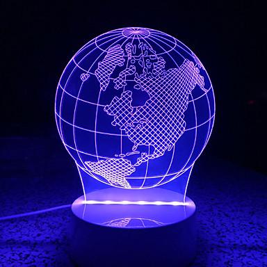 AWOO 1ks 3D noční osvětlení Ozdobné
