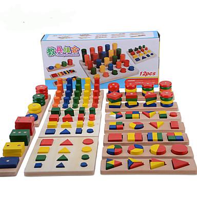 hesapli Oyuncaklar ve Oyunlar-Montessori Eğitim Araçları Yerleştirme Bulmacaları Matematik Oyuncakları Eğitim Havalı Genç Kız Genç Erkek Hediye