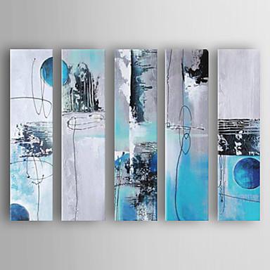 Handgemalte Abstrakt Horizontal, Neuankömmling Modern/Zeitgenössisch Segeltuch Hang-Ölgemälde Haus Dekoration Fünf Panele