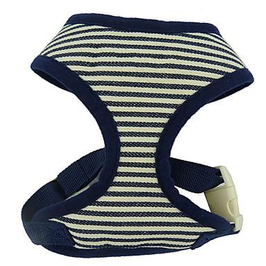 Kissa Koira Valjaat Kannettava Hengittävä Taiteltava Turvallisuus Säädettävä Raita Englantilainen Polyesteri Puuvilla Punainen Sininen