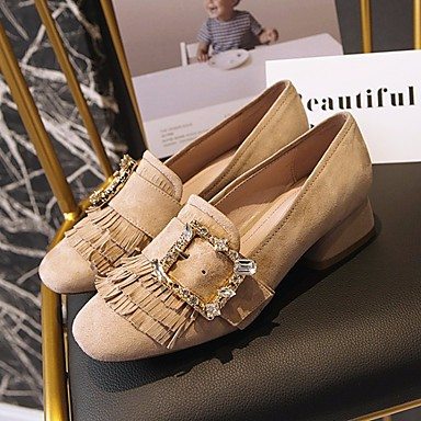 Damen Schuhe PU Frühling Komfort High Heels Für Normal Schwarz Hautfarben