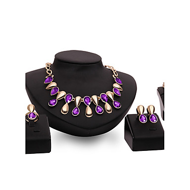 Mulheres Ouro Conjunto de jóias - Personalizada Vintage Importante Euramerican Fashion Outros Forma Geométrica Conjunto de Jóias Para