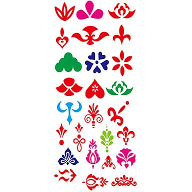 1 pcs Tattoo Stickers Temporary Tattoos Totem Series Waterproof Body Arts Hand / Arm / Wrist
