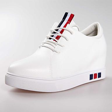 Damen Loafers & Slip-On Komfort Frühling Sommer PU Normal Keilabsatz Weiß Schwarz 2,5 - 4,5 cm