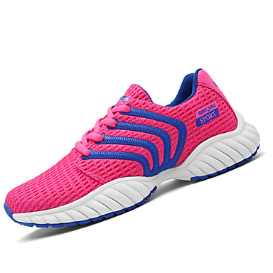Mulheres Sapatos Tule Couro Ecológico Primavera Verão Casual Fashion Tênis Sem Salto Ponta Redonda Cadarço para Diário Esportes Roupas