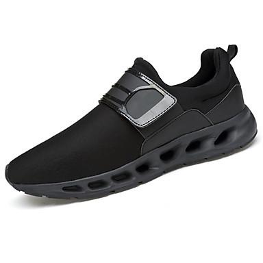 Homens sapatos Tule Primavera Outono Solados com Luzes Conforto Tênis Presilha para Casual Ao ar livre Preto