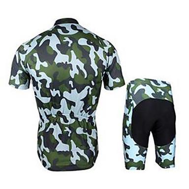 Fahrradtriktot mit Fahrradhosen Herrn Kurzarm Fahhrad Sweatshirt Rasche Trocknung Atmungsaktiv Komfortabel Polyester Solide Sommer