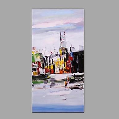 Ručně malované Krajina Vertikální, Moderní evropský styl Plátno Hang-malované olejomalba Home dekorace Jeden panel
