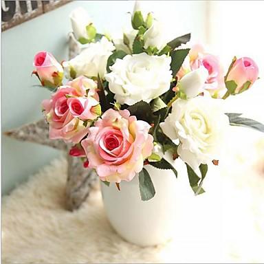 Künstliche Blumen 5pcs Ast Moderner Stil Rosen Tisch-Blumen