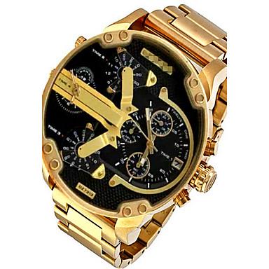 Недорогие Армейские часы-Для пары Спортивные часы Армейские часы Наручные часы Кварцевый Нержавеющая сталь Черный / Серебристый металл / Оранжевый Календарь Творчество С двумя часовыми поясами Аналоговый / # / # / Два года