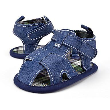 Crianças Para Meninos sapatos Tecido Verão Outono Primeiros Passos Sandálias para Casual Festas & Noite Social Branco Azul